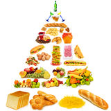 Food pyramid - lots of items Royalty Free Stock Photography