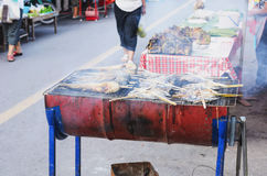 Food ready to be serve at street restaurant Stock Image