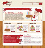 Food Recipes web template Stock Images
