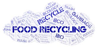 Food Recycling word cloud. Wordcloud made with text only stock image
