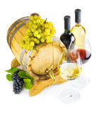 Red and white wine on white background Stock Photography