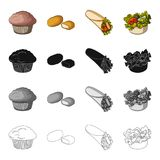 Food, refreshment, cake, and other web icon in cartoon style.Fast, food, picnic, icons in set collection. Food, refreshment, cake, and other  icon in cartoon Stock Images