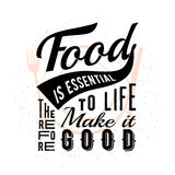 Food related typographic quote Stock Photo