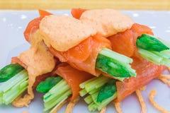 Food replicas of Salmon Mentai Sauce Stock Images