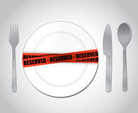 Food reserved. restaurant concept illustration Royalty Free Stock Photo