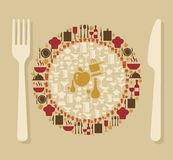 Food and restaurant concept illustration Royalty Free Stock Image