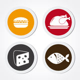 Food and restaurant design, vector illustration. Food and restaurant design over white background, vector illustration Royalty Free Stock Photography