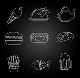 Food and restaurant design, vector illustration. Food and restaurant design over white background, vector illustration Stock Photography