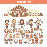 Food and restaurant elements for infographics Stock Photos