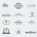 Food and restaurant emblems Stock Photos