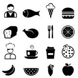 Food and restaurant icons Stock Images