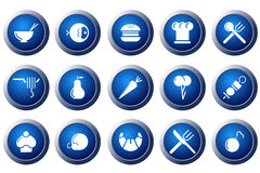Food and  Restaurant icons Royalty Free Stock Image