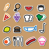 Food restaurant icons vector Royalty Free Stock Photo