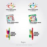 Food and restaurant logos. Food, restaurant, bar and cooking logos Royalty Free Illustration