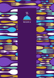Food, restaurant, menu design in violet Stock Photos
