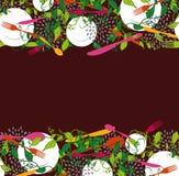 Food restaurant seamless pattern illustration Royalty Free Stock Image