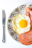 Food. Restaurant serves breakfast and corruption revealed Royalty Free Stock Images
