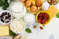 Food rich of calcium Royalty Free Stock Photography