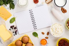 Food rich of calcium Royalty Free Stock Images
