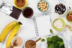 Food rich of magnesium Stock Photos