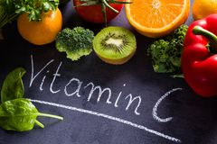 Food rich in vitamin c Royalty Free Stock Photo