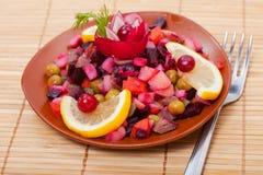 Food - russian course - salad  vinaigrette Stock Image