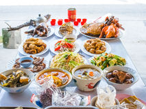 Food sacrificial offering Stock Images