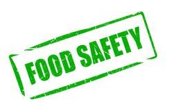 Food safety grunge stamp Stock Photo