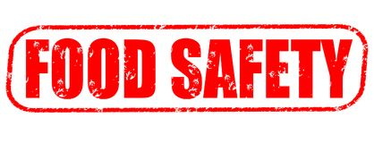 Food safety red stamp. On white background Royalty Free Stock Photography