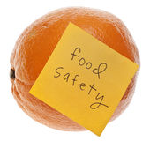 Food Safety Reminder Stock Photo