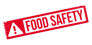 Food Safety rubber stamp Stock Images