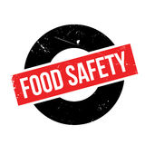 Food Safety rubber stamp Stock Image