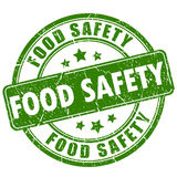 Food safety rubber stamp. Food safety rubber ink stamp Royalty Free Stock Photos