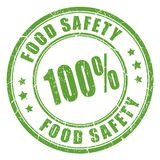 Food safety rubber stamp. Food safety rubber vector stamp Royalty Free Stock Image