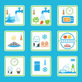 Food Safety Rules Infographics. Healthy Eating Habits Royalty Free Stock Photography