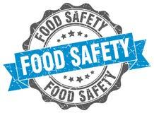 Food safety stamp. Food safety grunge stamp on white background stock illustration