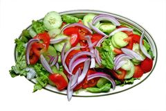 Food, salad 2. Plate of salad against a white background royalty free stock photos