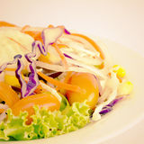 Food Salad  old vintage retro style Royalty Free Stock Image