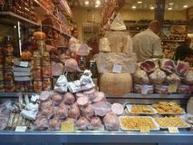 Food for sale in Italy. Royalty Free Stock Photography