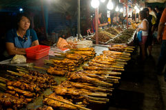 Food sales at temple fair in Thailand Royalty Free Stock Photos