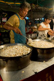 Food sales at temple fair in Thailand Stock Photos