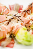 Food salmon anchovy salad Stock Photography