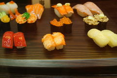 Food samples from Japanese restaurants Stock Photography
