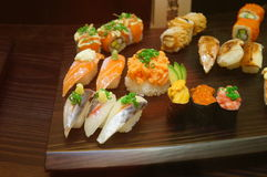 Food samples from Japanese restaurants Royalty Free Stock Photo