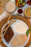 Food - Savory Dips - Bread Sticks Stock Image