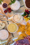 Food - Savory Dips - Bread Sticks Royalty Free Stock Image