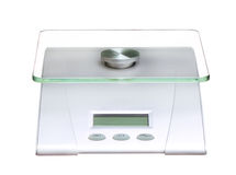 Food scale electronic and digital isolated on white Royalty Free Stock Photo