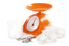 Food Scale & Tools Royalty Free Stock Image