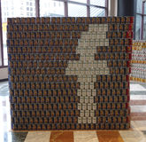 Food sculpture presented at 21st Annual NYC Canstruction competition in New York Stock Images
