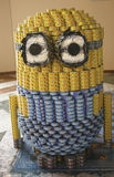Food sculpture presented at 21st Annual NYC Canstruction competition in New York. NEW YORK - NOVEMBER 10: Food sculpture presented at 21st Annual NYC Royalty Free Stock Image